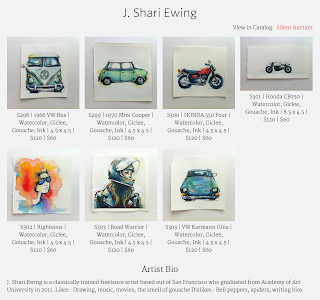 j. shari ewing art illustration watercolor gouache aau 2015 alumni faculty art auction