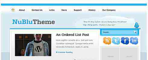 Nublu wordpress theme