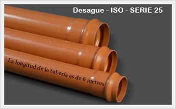 Alcantarillado PVC ISO - SERIE 25