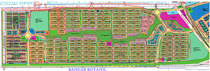 Bandar Botanic Layout Plan
