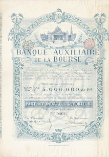 share of the Banque Auxiliaire de la Bourse
