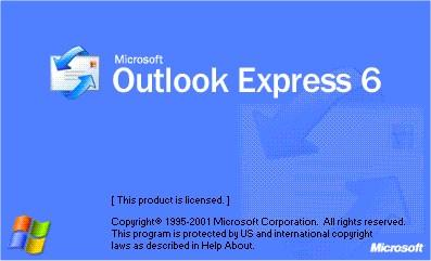 Pantalla de presentación de Outlook Express 6