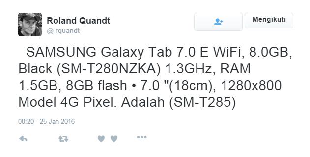 Samsung Galaxy Tab E dan Galaxy Tab e Lite akan segera rilis?