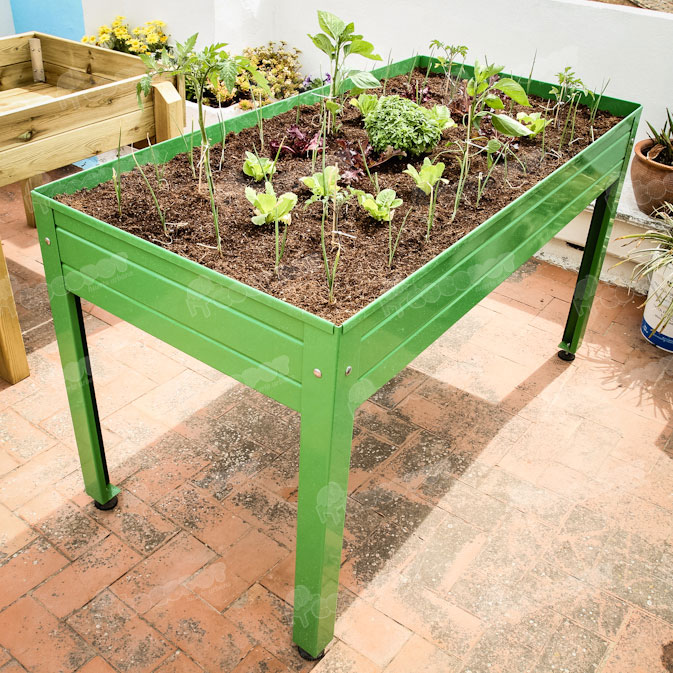 Qtlhd crear un huerto urbano parte i for Mesa de cultivo casera