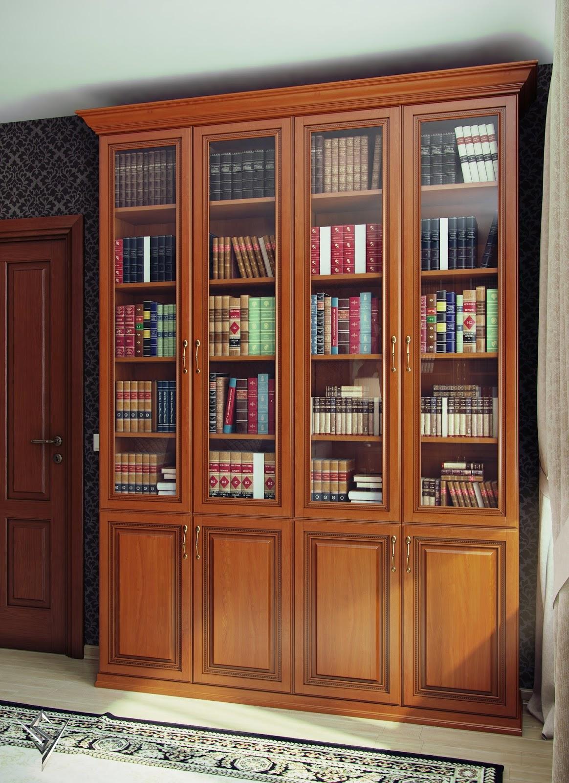 Книжный шкаф четырехстворчатый олимп купить в мебель олива..