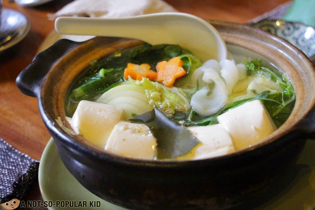 Japanese Tofu Hotpot in Baguio -- Chaya Restaurant!
