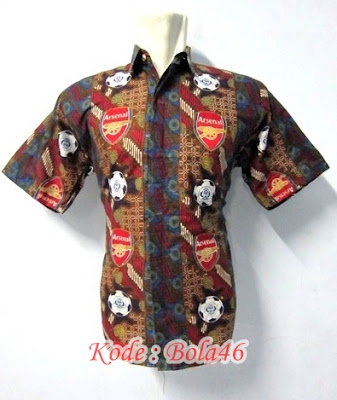 seragam batik the gunners