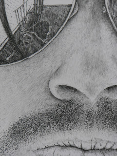 Detail of pencil drawing by John Huisman