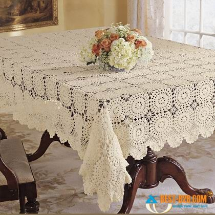 White Lace Duvet Covers and tablecloths at Linens, Lace