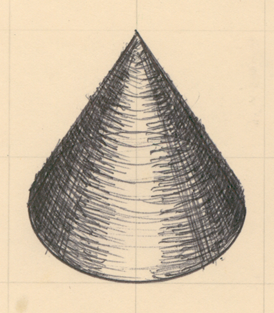 How To Draw A Cone Using An Ellipse Step 1 Draw An Ellipse Step 2 Mark