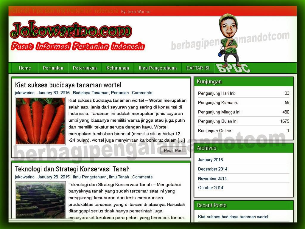 Jokowarino.com Tempat Berbagi Informasi Mengenai Pertanian Indonesia_Home
