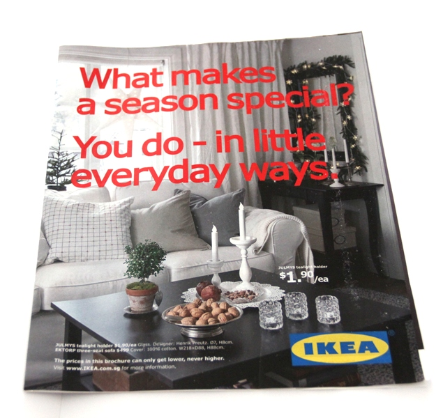 upcycling ikea christmas catalogue