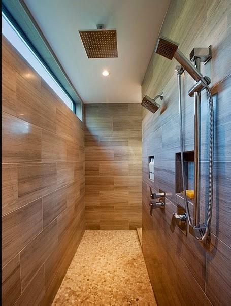 Hogares frescos 25 incre bles ideas para una ducha abierta for Duchas grandes