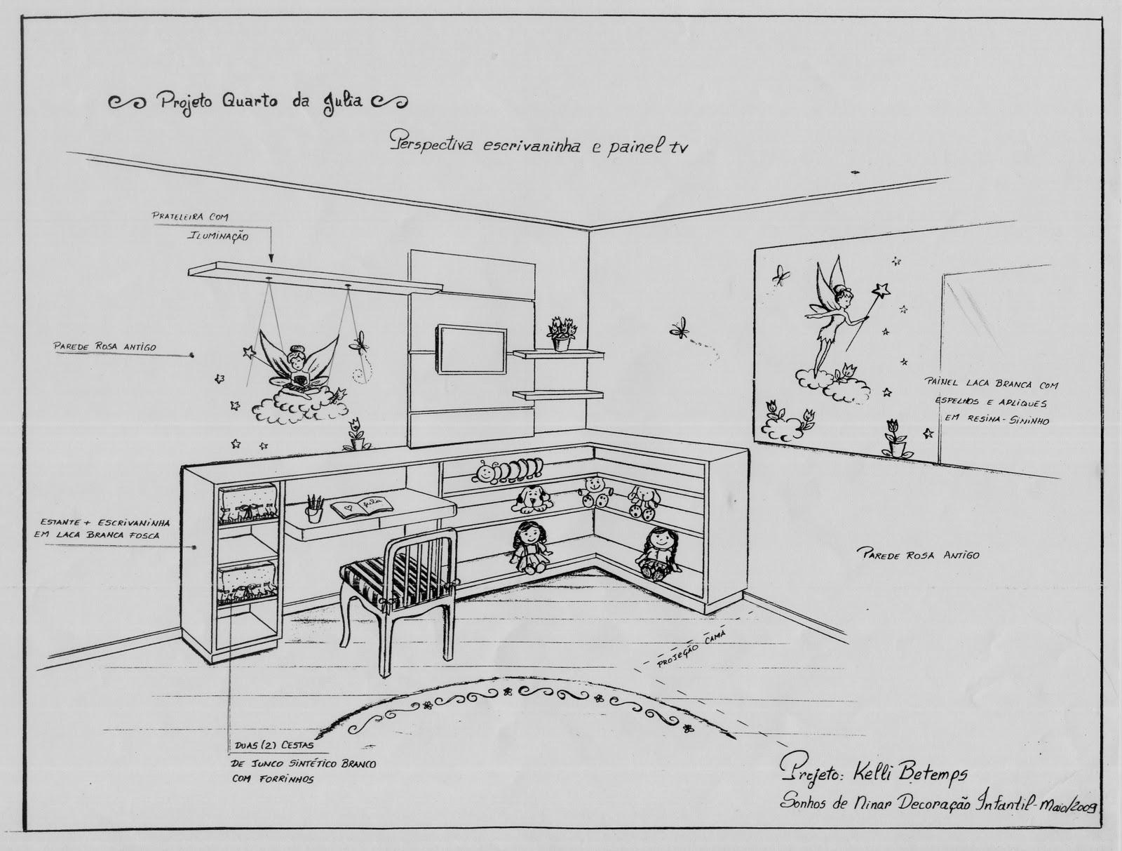Escrivaninha estante de brinquedos e painel para tv #3C3C3C 1600x1213