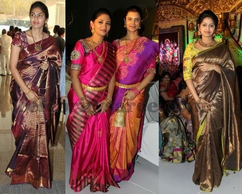 Latest Traditional Bridal Sarees 2014