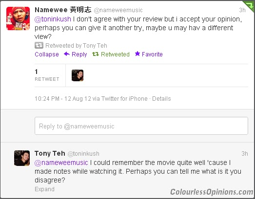 Namewee disagrees with bloggers movie review Hantu Gangster