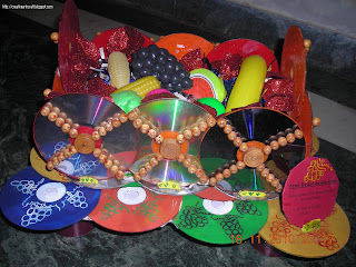 Anu 39 s art and crafts best out of waste fruit basket with for Craft work from waste items