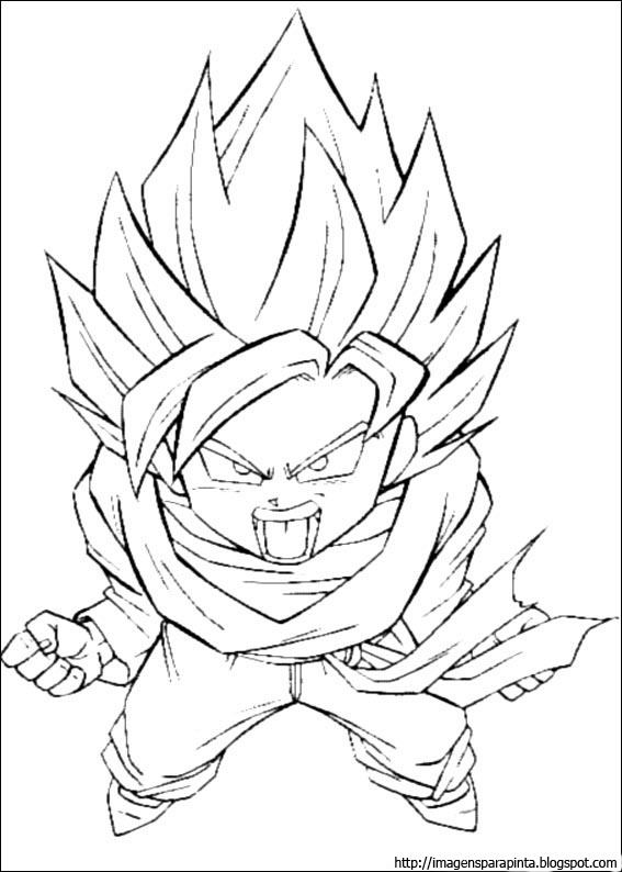 a desenhar Dragon ball z goku  colorir