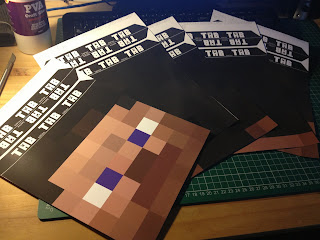 Minecraft Steve printable mask templates