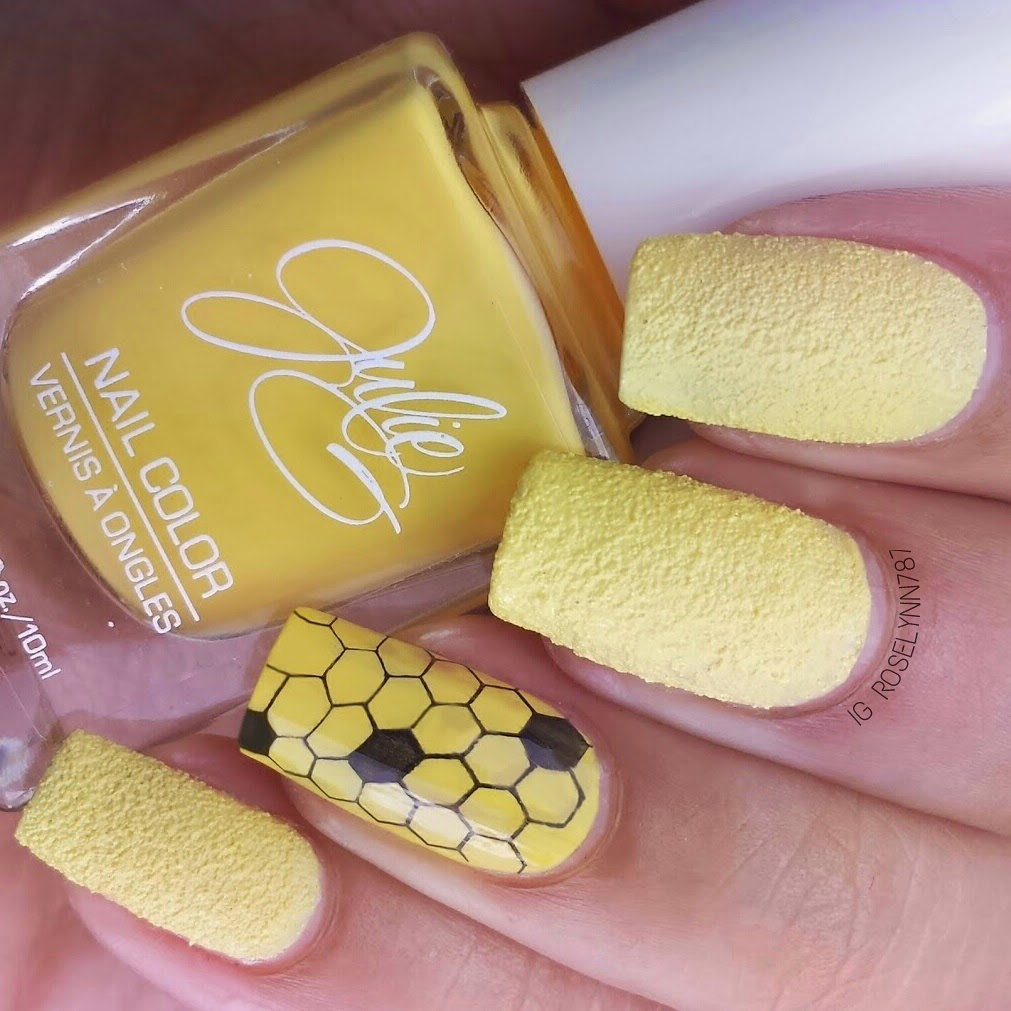 stamp bee yellow