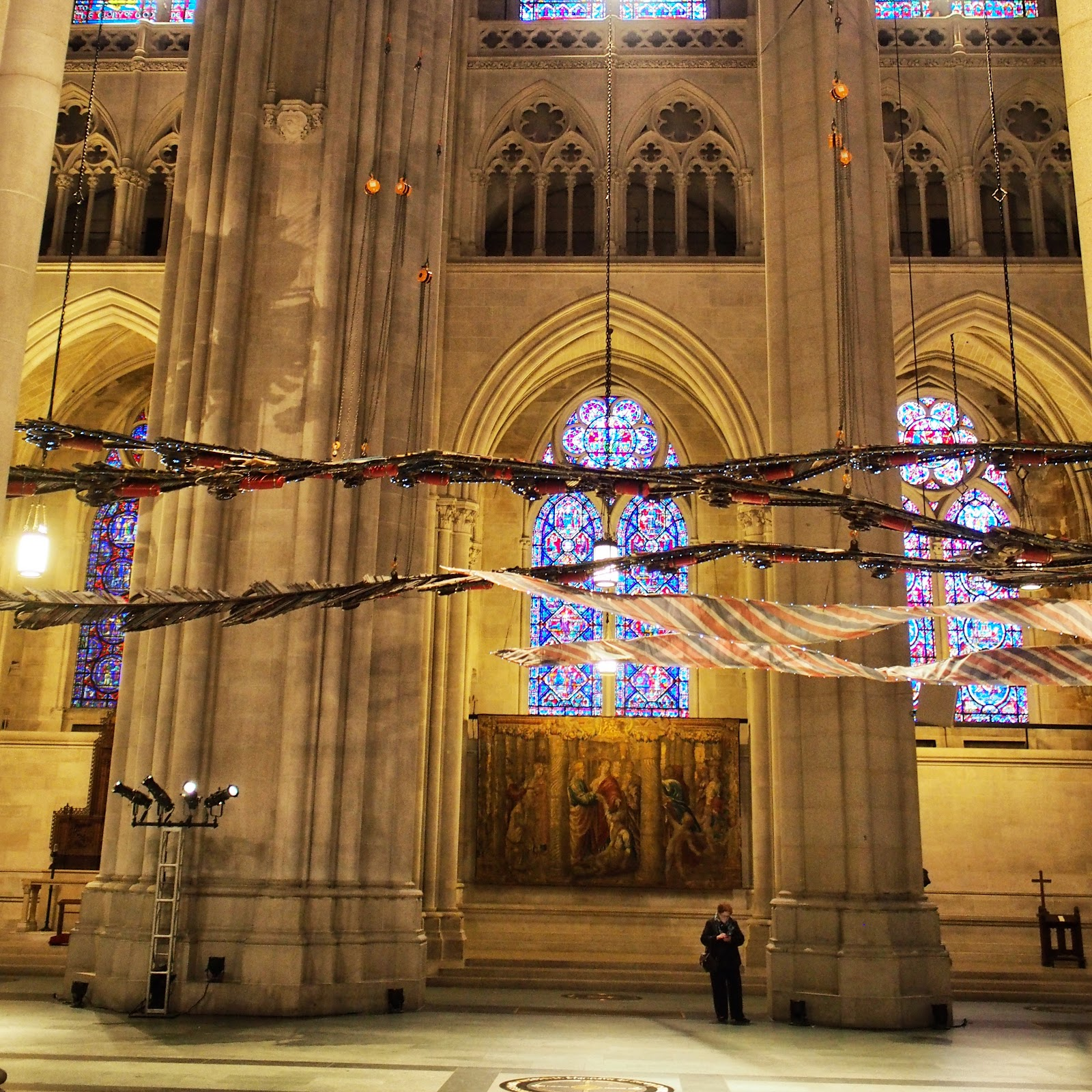 Tail Feathers #Tailfeathers #phoenix #xubing #stjohnthedivinecathedral #art #nyc ©2014 Nancy Lundebjerg