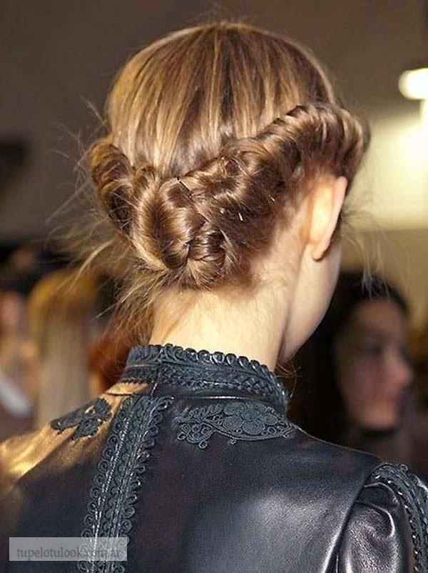 peinados de fiesta 2015 recogidos torzadas