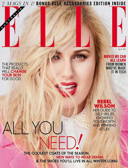 Rebel Wilson by David Burton for Elle Australia April 2015