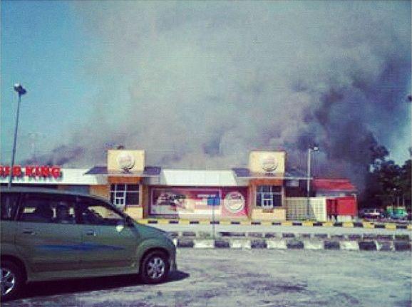 burger king extreme park shah alam terbakar