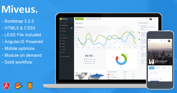 miveus new bootstrap angularjs admin template download new themes. Black Bedroom Furniture Sets. Home Design Ideas