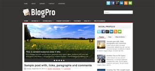 BlogPro Blogger Template