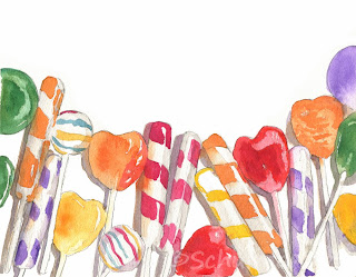 candy art | watercolor painting