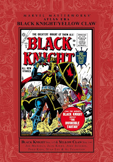 Review Marvel Masterworks Atlan Era Black Knight Yellow Claw Volume One Stan Lee Jack Kirby Al Feldstein Joe Maneely Fred Kida John Romita Sr. Syd Shores Werner Roth George Roussos Marvel Cover MMW hardcover hc comic book