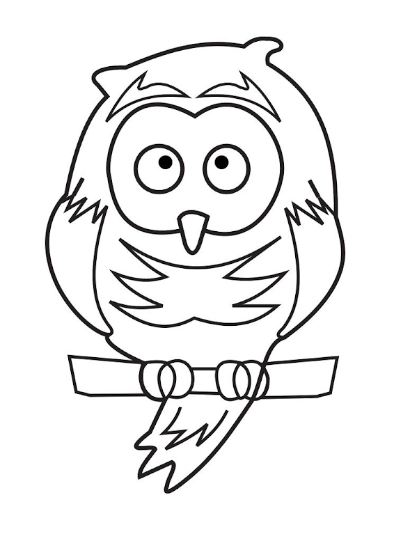 Animal drawings :Owl Coloring Page title=