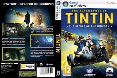 The Adventures Of Tintin The Secret Of The Unicorn PC DVD Capa
