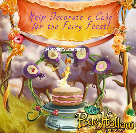 Pixie Hollow Forever: 2012 Fairy Feast Cake Decorator Badge ♥