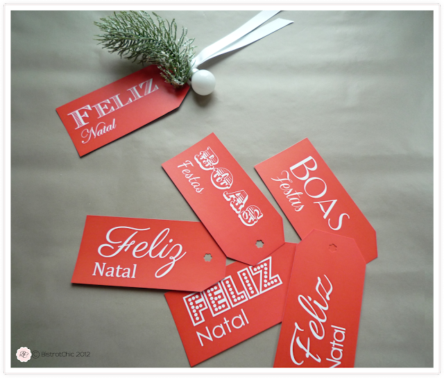 Free Christmas gift tags from BistrotChic