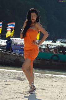 Shruti Hassan latest Pictureshoot in a lovely Orange Mini Skirt for movie 3