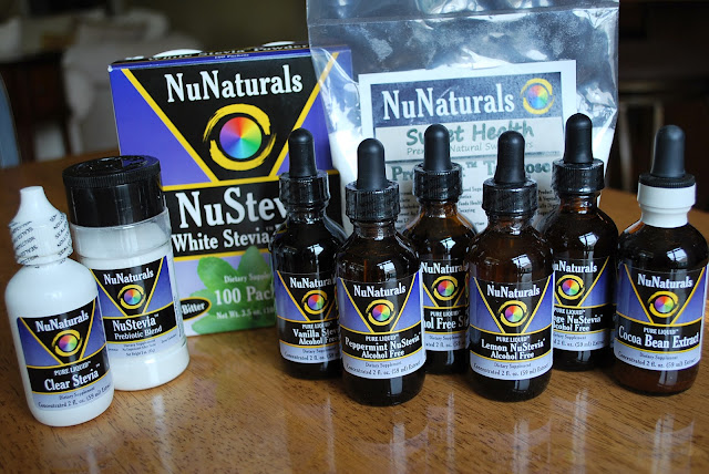 NuNaturals products for lemon cheesecake