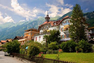 Cantones en Brienz, Berna, Suiza. Conociendo Europa