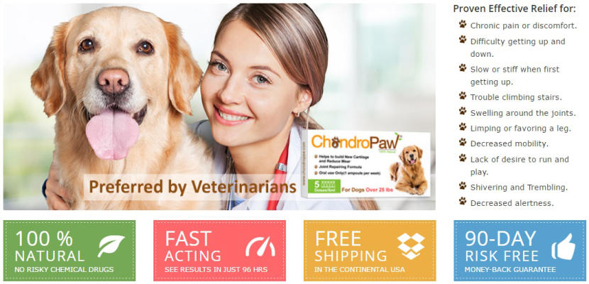 Dogs with Arthritis, Hip and Mobility Problems? them CHONDROPAW
