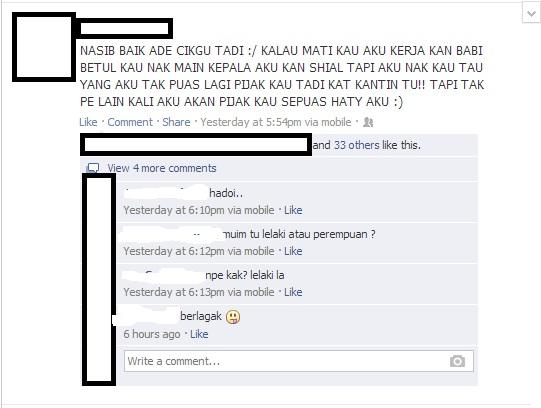 facebook, budak bergaduh, kegunaan facebook, kawalan maksimum facebook