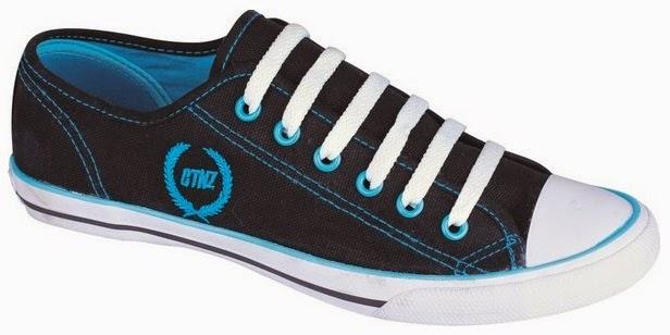 Sepatu Kets Hitam Bordir Biru Catenzo