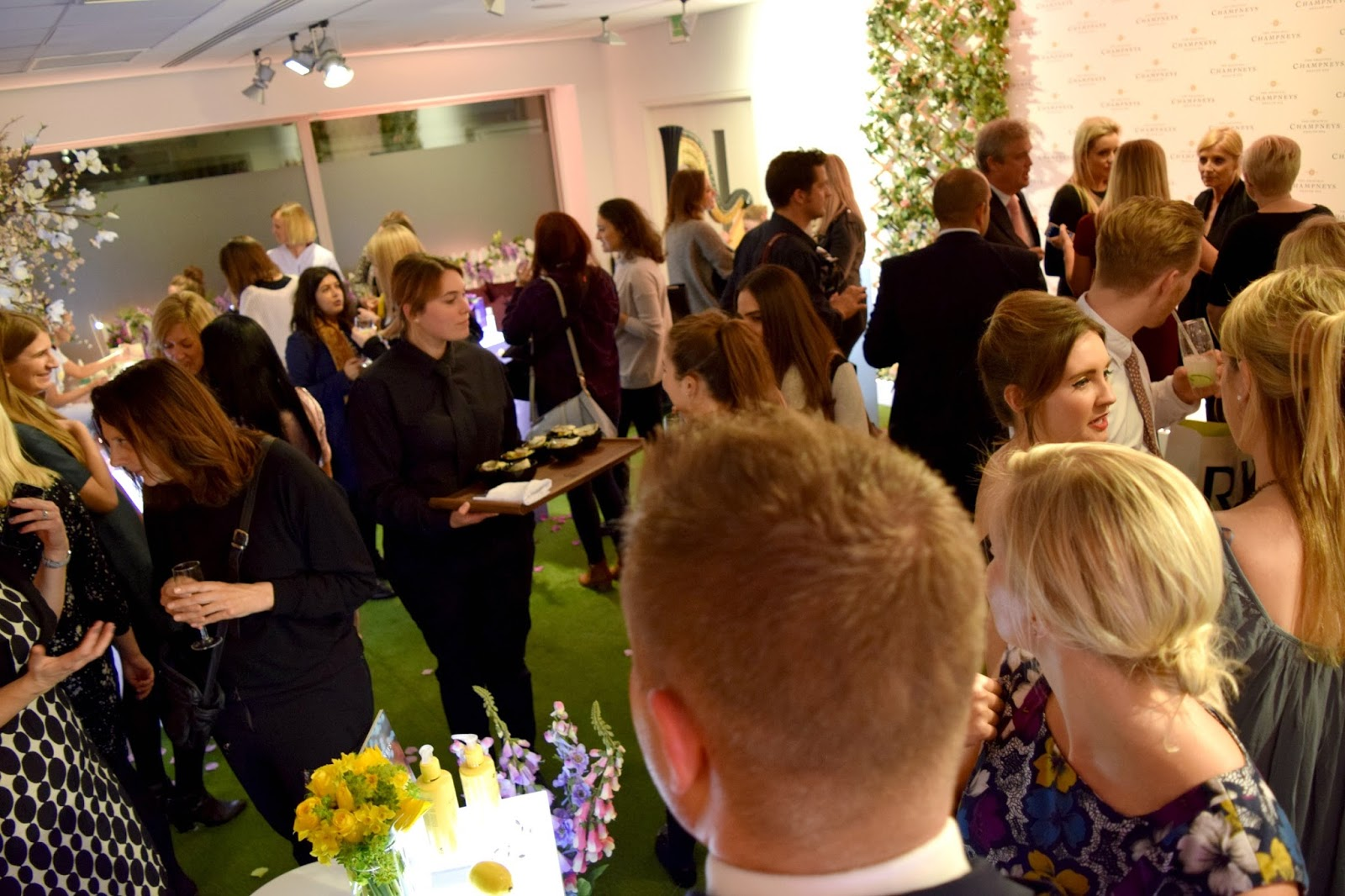 Overcrowded Champneys Spa Press Event