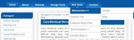 cara membuat menu dropdown di blog