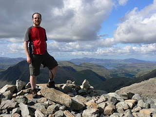 On the top of Scafell Pike, it might not look it but I was in great pain