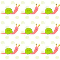 kids snail pattern