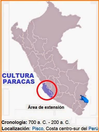 cultura paracas ubicacion geografica