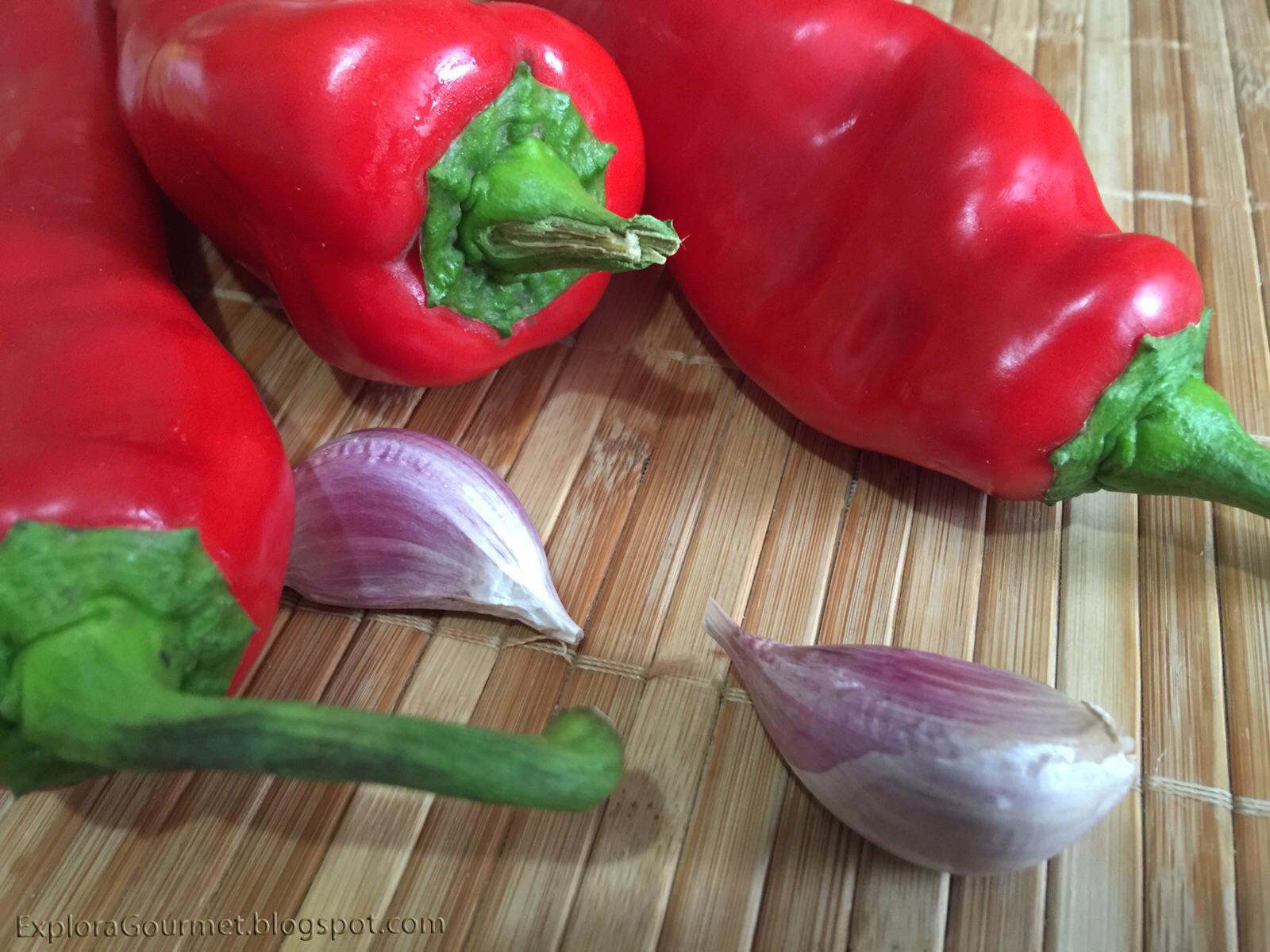 pimiento y ajo