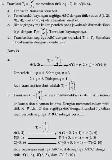 Soal Matematika: Soal Transformasi Geometri dengan pembahasan