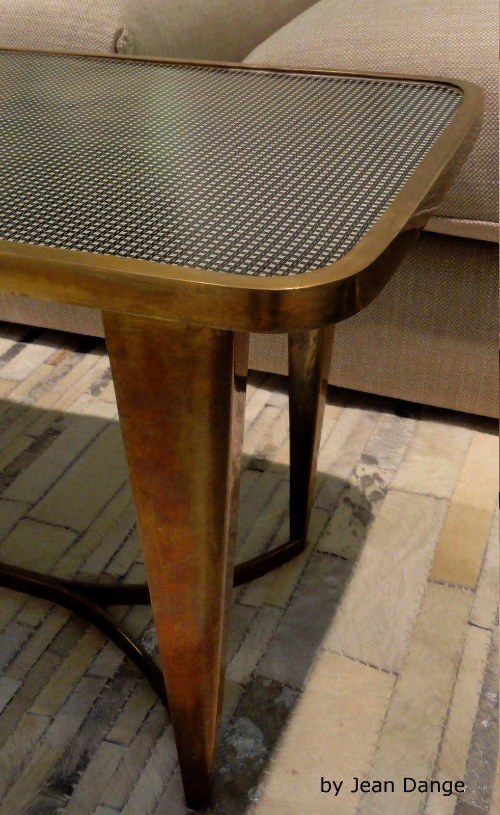 jean dange houndstooth side table bout de canap pied de poule. Black Bedroom Furniture Sets. Home Design Ideas